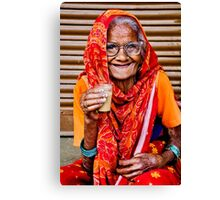 A Lady and Her Chai II Canvas Print