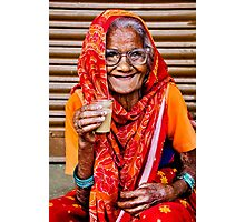 A Lady and Her Chai II Photographic Print