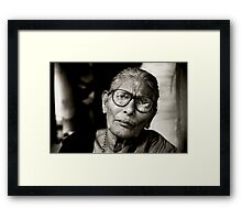 Portrait of a Woman in Madurai Framed Print