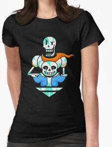 Sans and Papyrus Arrow Womens Fitted T-Shirt