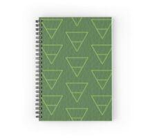 Green Grass Earth Alchemy Symbol Spiral Notebook
