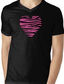 0565 Raspberry Pink Tiger Mens V-Neck T-Shirt