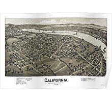California - Pennsylvania - 1902 Poster