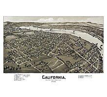 California - Pennsylvania - 1902 Photographic Print