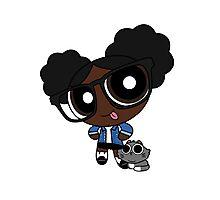 Black powerpuff girl Photographic Print