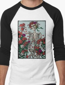 Skeleton & Roses Men's Baseball ¾ T-Shirt