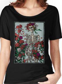 Skeleton & Roses Women's Relaxed Fit T-Shirt
