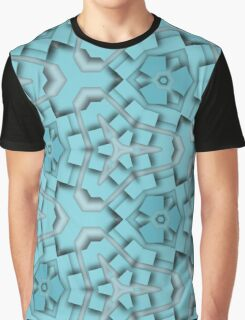 Blocks and Layers - Blue Graphic T-Shirt