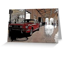 ford mustang cabriolet classic car Greeting Card
