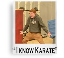 """I know Karate"" Canvas Print"