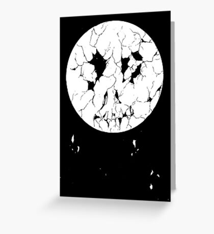 Decayed Moon Greeting Card