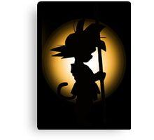 Goku - Silhouette Canvas Print