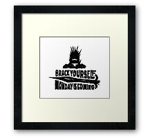 Monday is Coming  (Game of Thrones) (Black) Framed Print