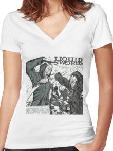 Liquid Swords Album Art Sketch Women's Fitted V-Neck T-Shirt