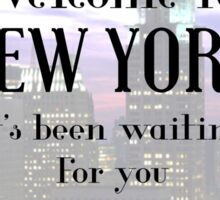 Taylor Swift-Welcome to New York Sticker