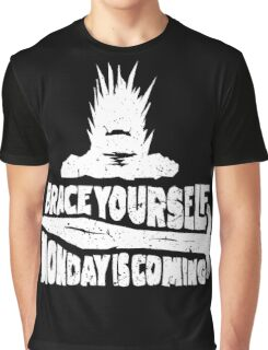 Monday is Coming (Game of Thrones) (White) Graphic T-Shirt