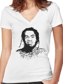Waka flocka [4K]  Women's Fitted V-Neck T-Shirt