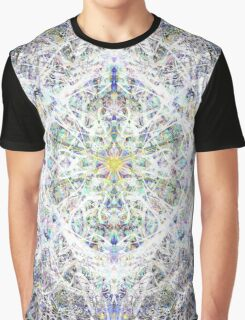 Faries, Unicorns, And Princesses In Soft Blue Graphic T-Shirt