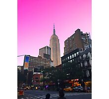 Empire State Pink Photographic Print