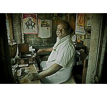 Portrait of a Temple Worker Photographic Print