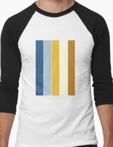 Color Scheme: Sand Castles Men's Baseball ¾ T-Shirt