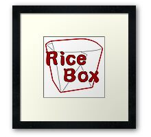 Rice Box Framed Print