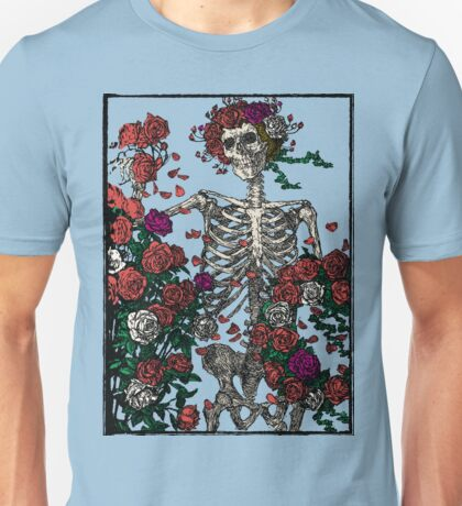 Skeleton & Roses - transparent Background Unisex T-Shirt