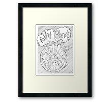 Rabbit Planet Framed Print