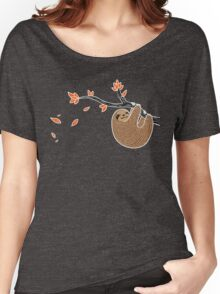 Sloth in Autumn Women's Relaxed Fit T-Shirt