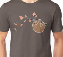 Sloth in Autumn Unisex T-Shirt