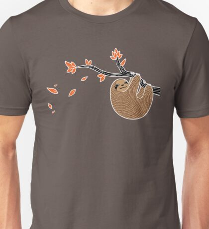 Sloth in Autumn Unisex T-Shirt