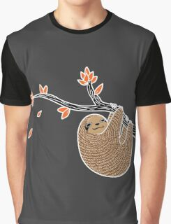 Sloth in Autumn Graphic T-Shirt