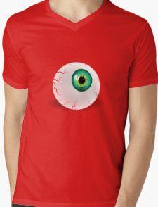 Green Eyeball Mens V-Neck T-Shirt