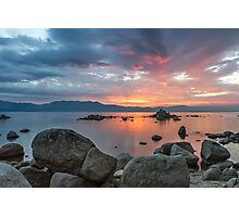 Dusk at Zephyr Cove Photographic Print