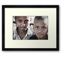 A Portrait of Strong Character Framed Print