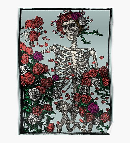 Skeleton & Roses - other big Version. Poster