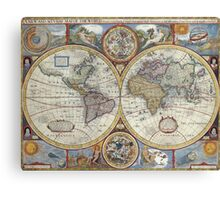Old Map of the World Canvas Print
