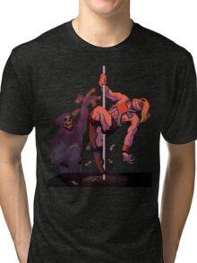 BY THE POWER OF GRAYSKULL Tri-blend T-Shirt