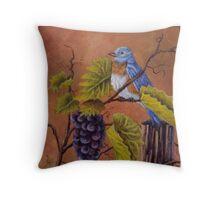 Bluey and the Grape Vine Throw Pillow