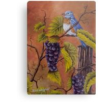 Bluey and the Grape Vine Metal Print
