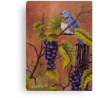 Bluey and the Grape Vine Canvas Print
