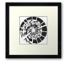 Uncoloured Crest 114 Framed Print