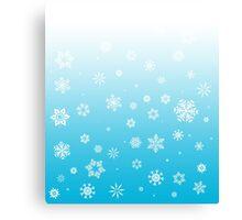 Ombre Blue White Snow Canvas Print
