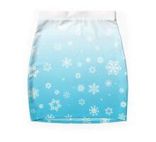 Ombre Blue White Snow Mini Skirt