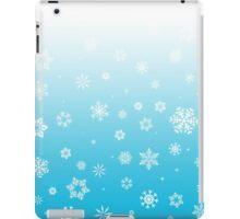 Ombre Blue White Snow iPad Case/Skin