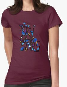 Sky Full of Stars (painted) Womens Fitted T-Shirt