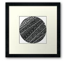 Uncoloured Crest 143 Framed Print
