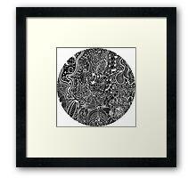 Uncoloured Crest 188 Framed Print
