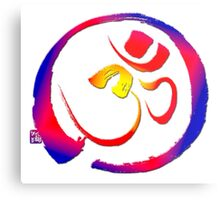 Aum - Om with Enso Zen-circle  Metal Print