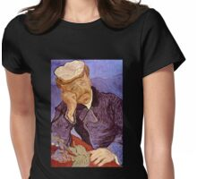 'Portrait of Dr. Gatchet' by Vincent Van Gogh (Reproduction) Womens Fitted T-Shirt